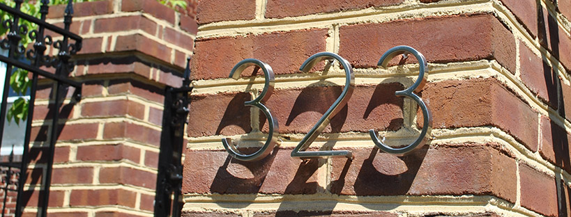 Adding Modern House Numbers Rowhouse Rookies