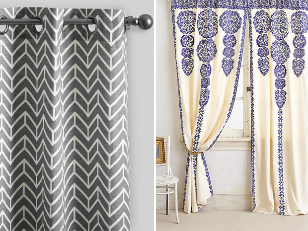 World Market Charcoal Gray Arrow Cotton Curtains | Anthropologie Marrakech  Curtain